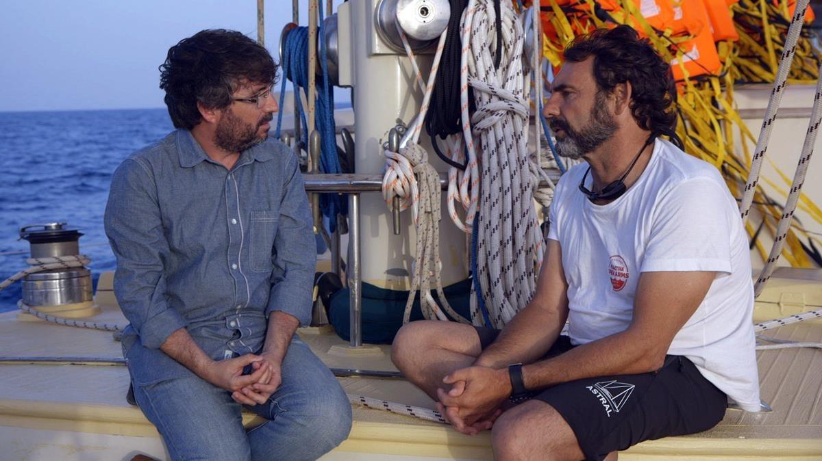 Jordi Évole y Òscar Camps, en la película documental Astral.