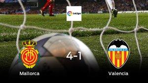Triunfo para el Mallorca tras golear 4-1 al Valencia