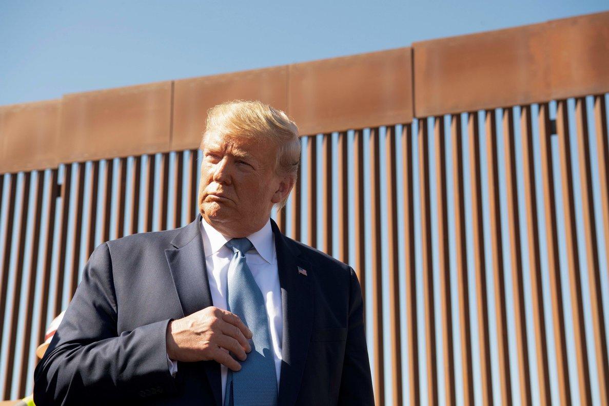 Trump aseguró que una vez sea levantada la nueva barrera los contingentes militares desplegados en la frontera serán retirados.