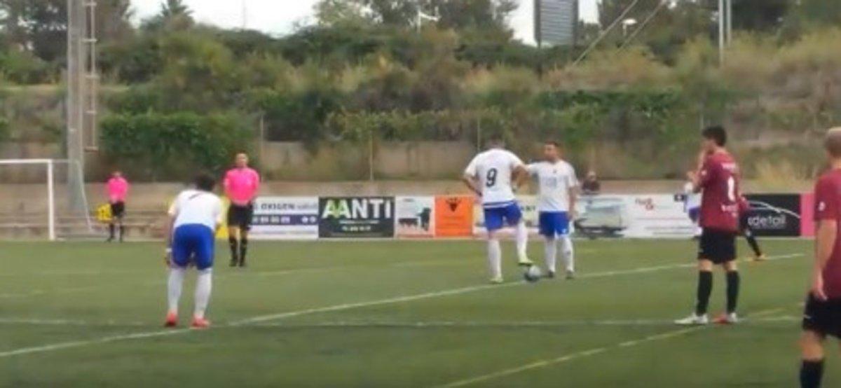 La UDA Gramenet marcó un gol en 3,87 segundos (captura de vídeo).