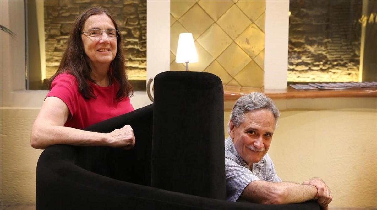 Nancy Madden y Robert Slavin, en Barcelona.