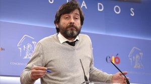 El portavoz de Podemos, Rafael Mayoral, en una foto de archivo