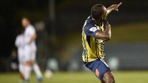 Bolt, tras marcar el primer gol.