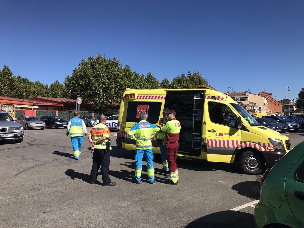 UVI móvil del servicio de Emergencias de la Comunidad de Madrid.