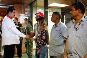 El presidente de Venezuela, Nicolás Maduro en una gira pública. AFP