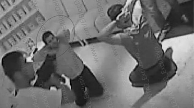 Vídeo en que se ve como fue secuestrado el hijo de El Chapo Guzmán en el restaurante La Leche de Puerto Vallarta.