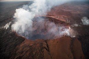 Vista aérea del volcan Kilauea, en una imagen de archivo.