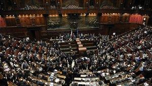 Vista del Parlamento italiano, en una imagen de archivo.