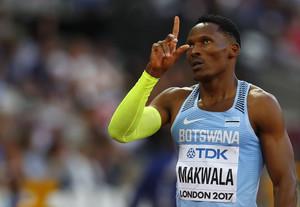 Isaac Makwala, en Londres.