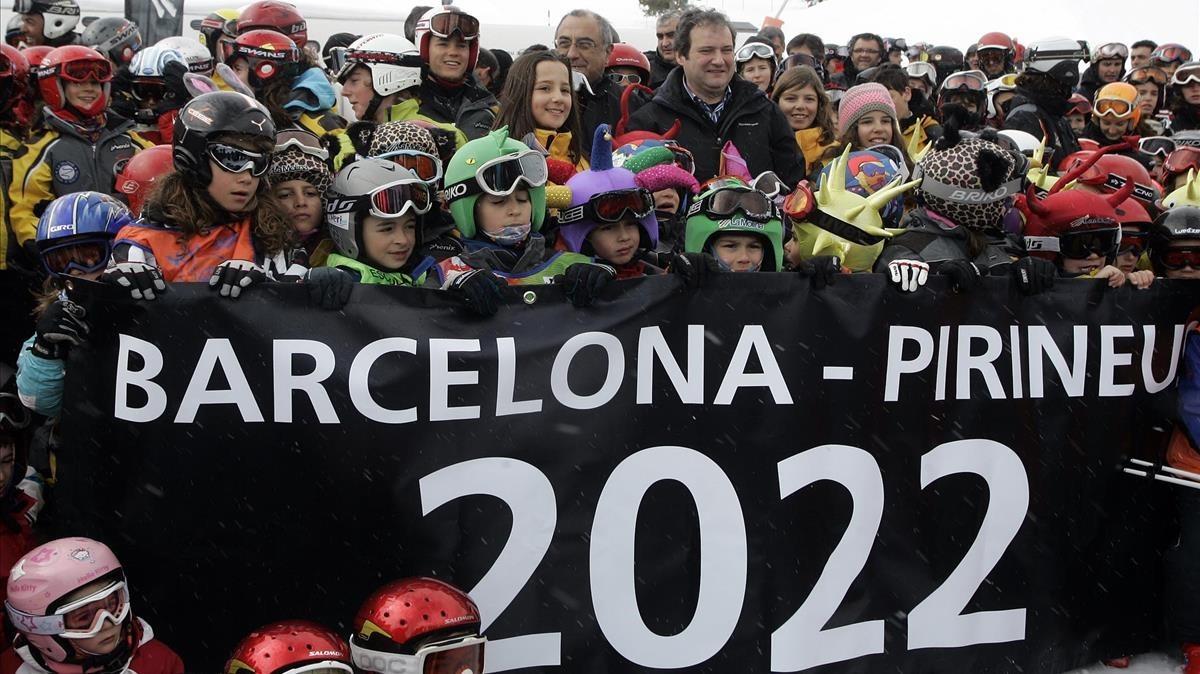 Jordi Hereu, en febrero del 2010, pocos días después de presentar la candidatura olímpica.