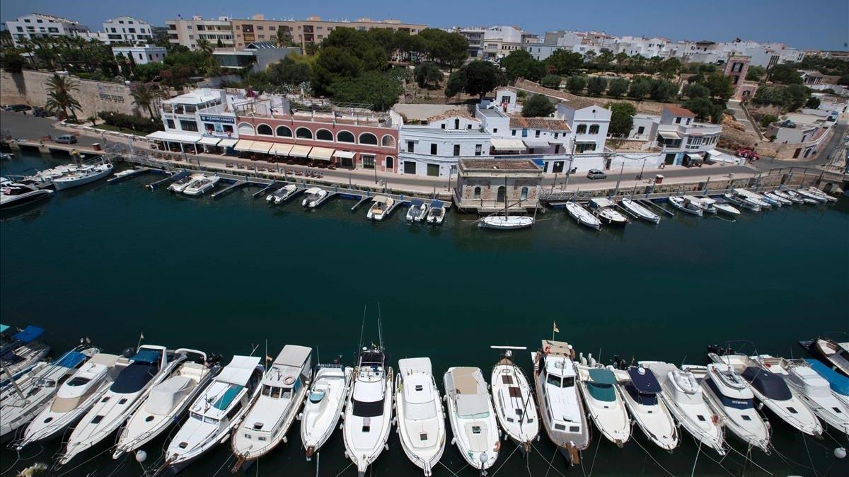 Puerto de Ciutadella.