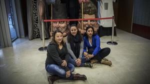 Kelin, Kathia y Johana, este sábado por la tardeen El Sortidor.