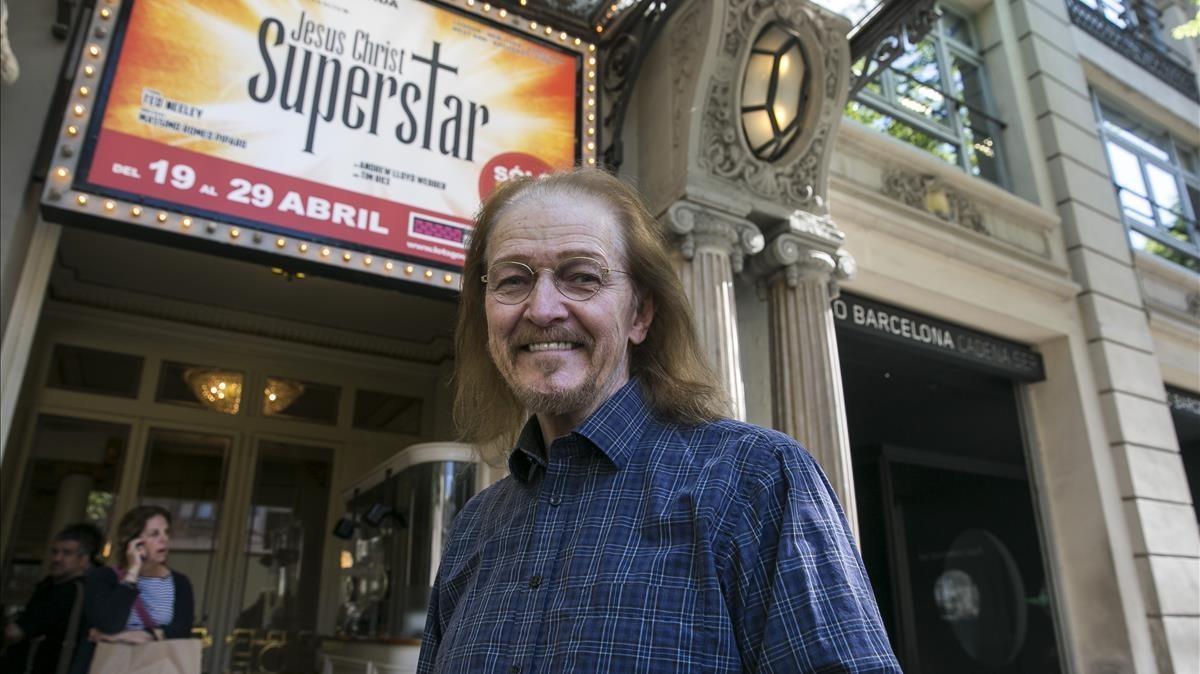 Ted Neeley, protagonista de Jesus Christ Superstar en los años 70 ytambién ahora, en Barcelona.