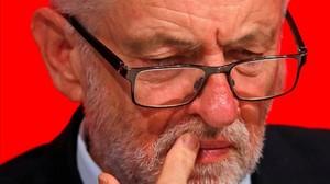 Jeremy Corbyn, en la conferencia anual del Partido Laborista, el 25 de septiembre del 2018en Liverpool.