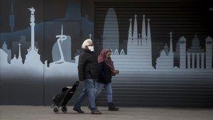 Una calle de Barcelona, el pasado día 26 de marzo.