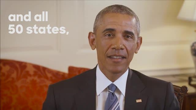 Vídeo de suport del president Obama a Clinton.