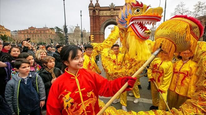 Desfile del Año Nuecho Chino en Barcelona