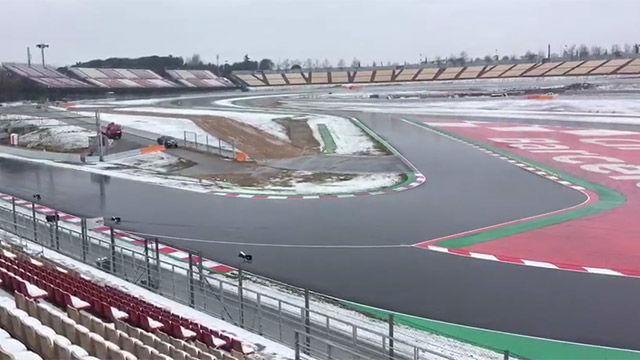 Así amaneció el Circuit de Catalunya