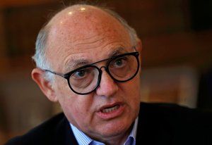 Argentina s Foreign Minister Hector Timerman speaks during an interview with Reuters at his office in Buenos Aires  REUTERS Marcos Brindicci File Photo