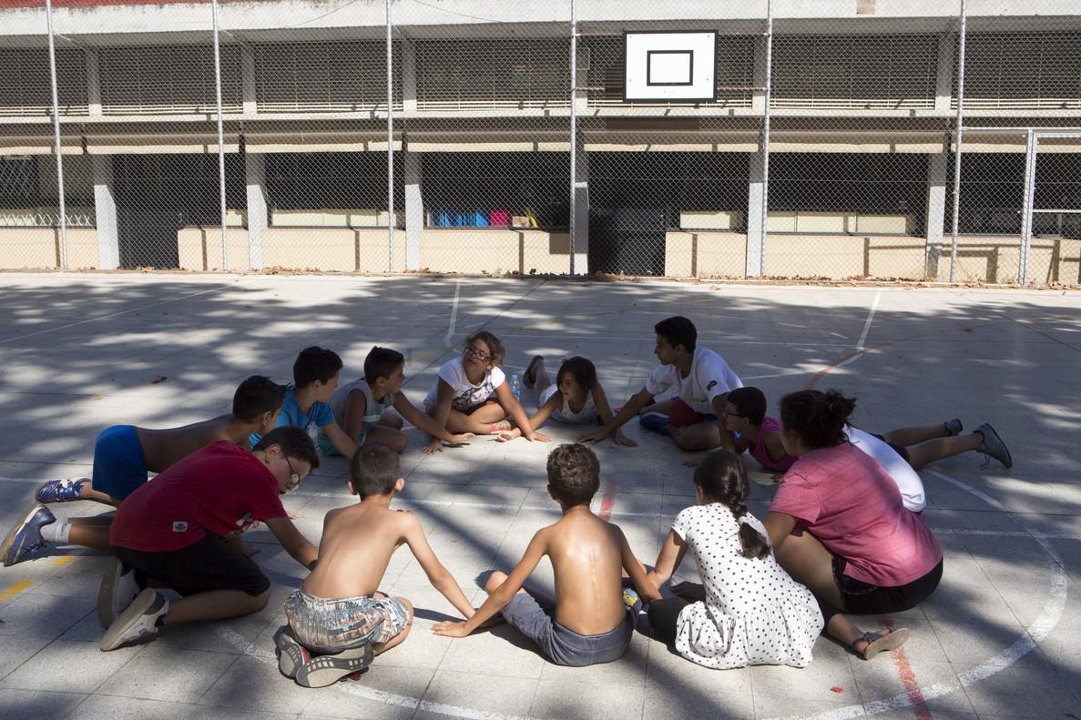 Niños en un campamento de verano.