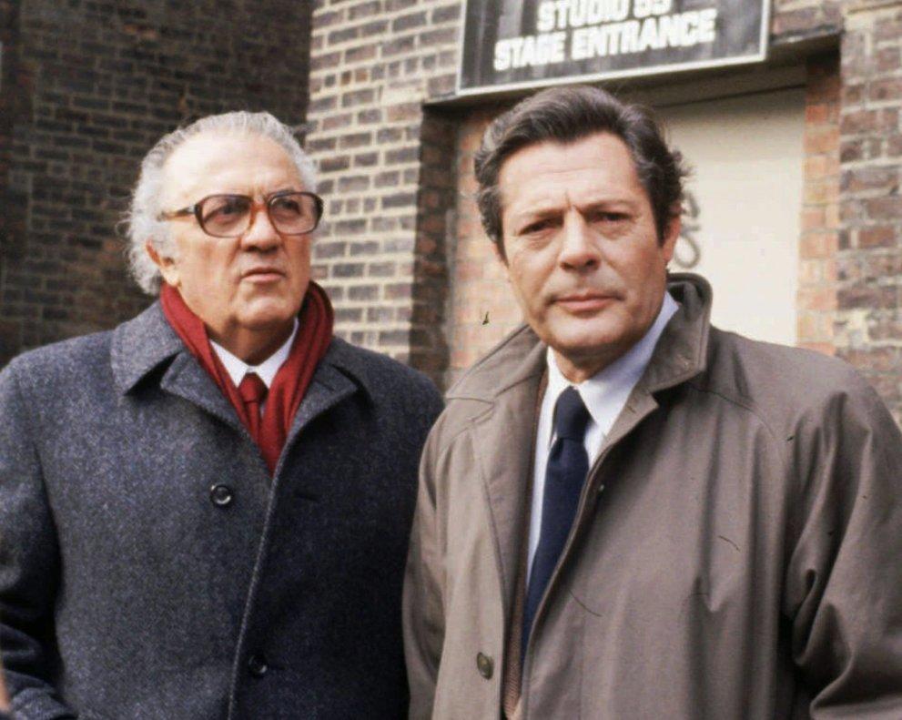 FedericoFellini (izquierda) y su actor fetiche, Marcello Mastroianni.