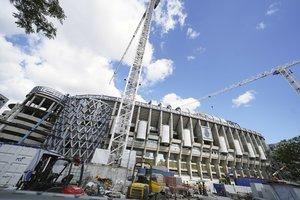 Avance de las obraseste viernes en el Santiago Bernabéu.