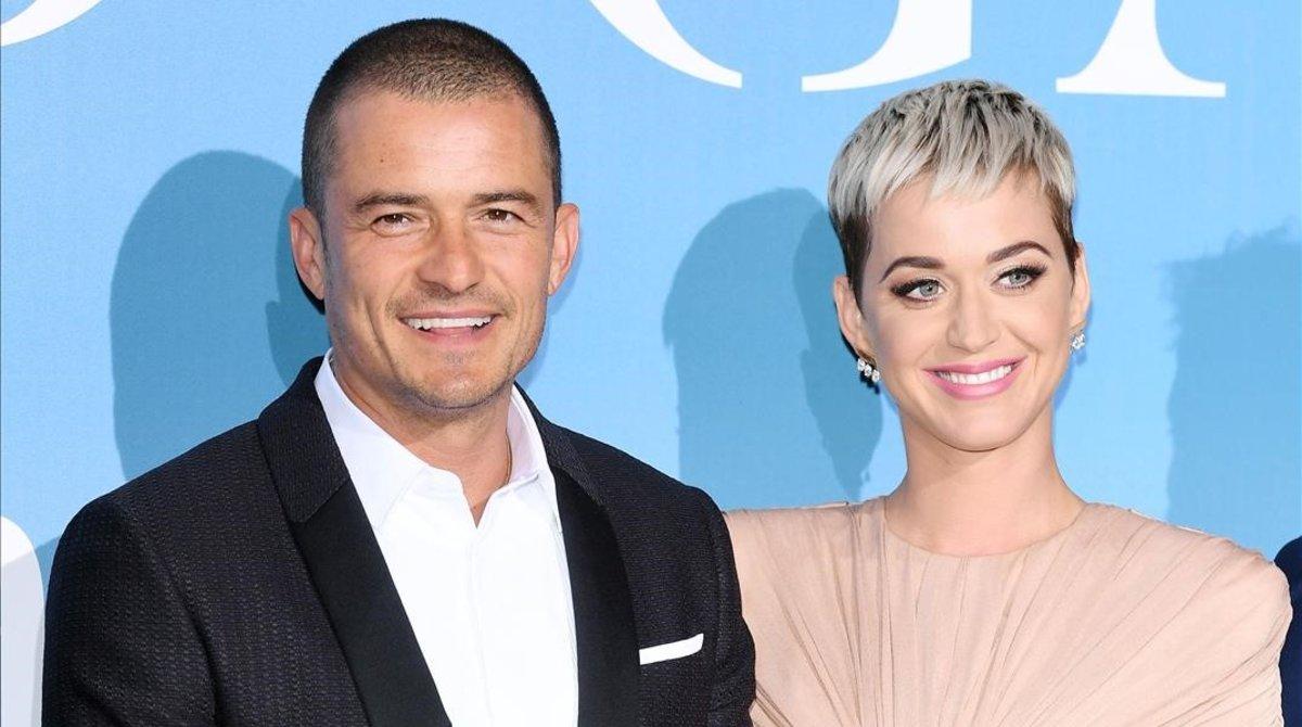 Una imagen de archivo de Katy Perry y Orlando Bloom.