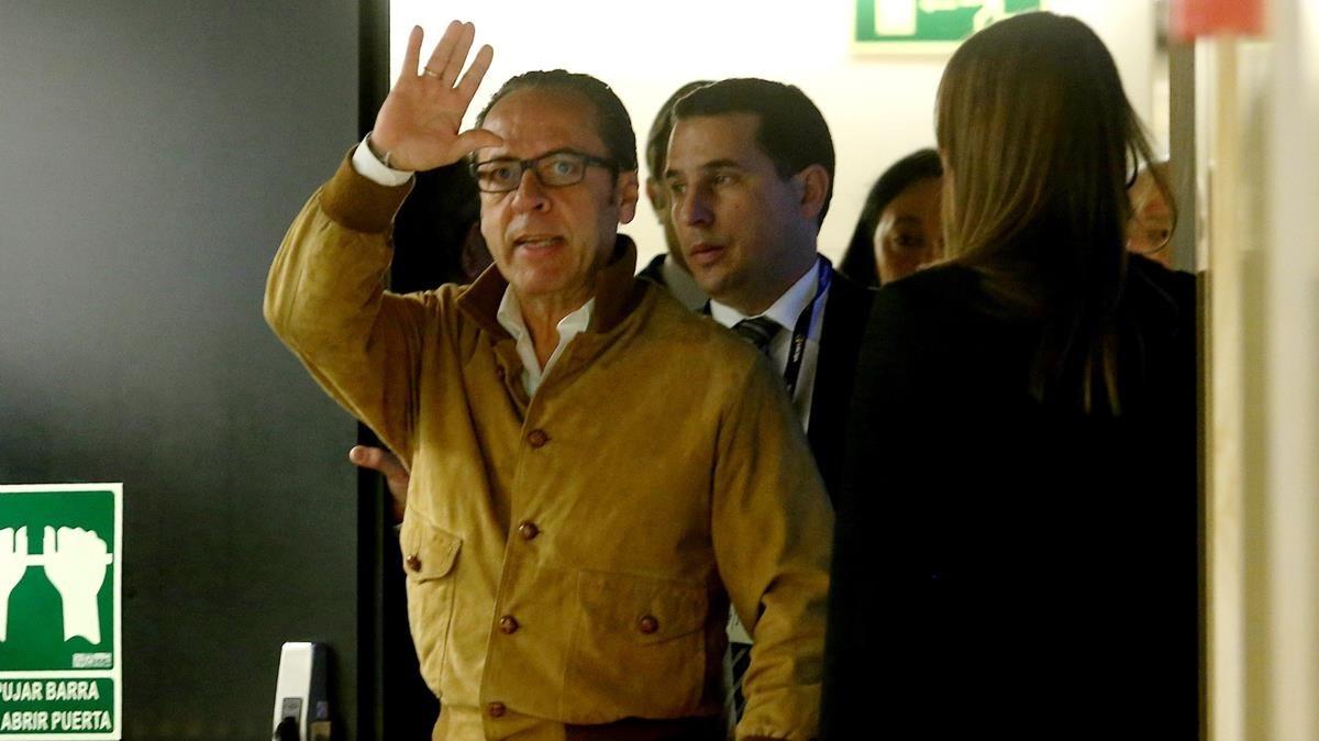 Álvaro Pérez Alonso, más conocido como El Bigotes, ante la comisión sobre la financiación irregular del PP.