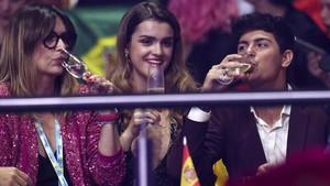 Amaia y Alfred tras su actuación en Lisboa.