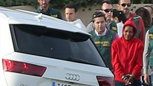 Ana Julia Quezada, detenida, en Rodalquilar.