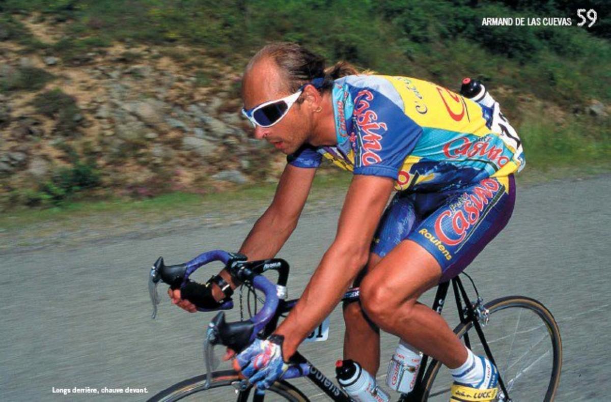Armand de las Cuevas, en la foto difundida por la asociación de ciclistas franceses.