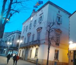 El Ayuntamiento de Mataró, en una imagen tomada este domingo por la tarde.