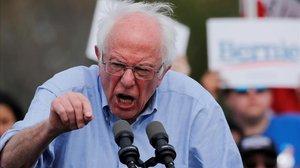 Bernie Sanders, este viernes en un mitin en California.