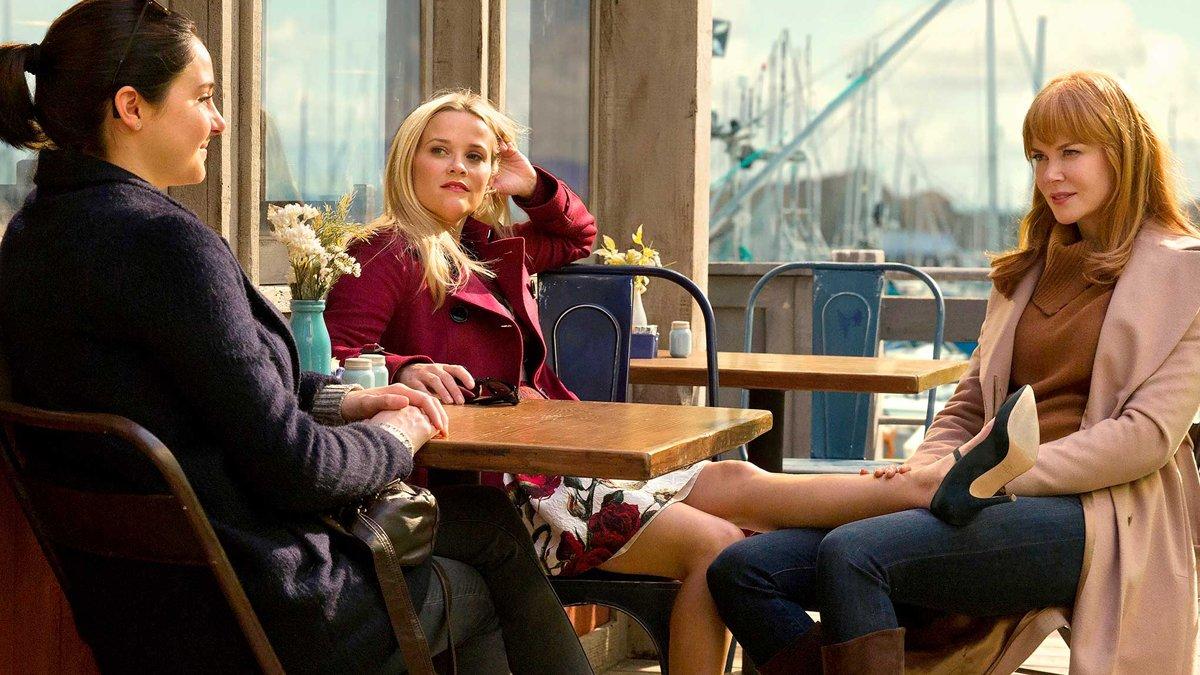 Shailene Woodley, Reese Witherspoon y Nicole Kidman en Big little lies.