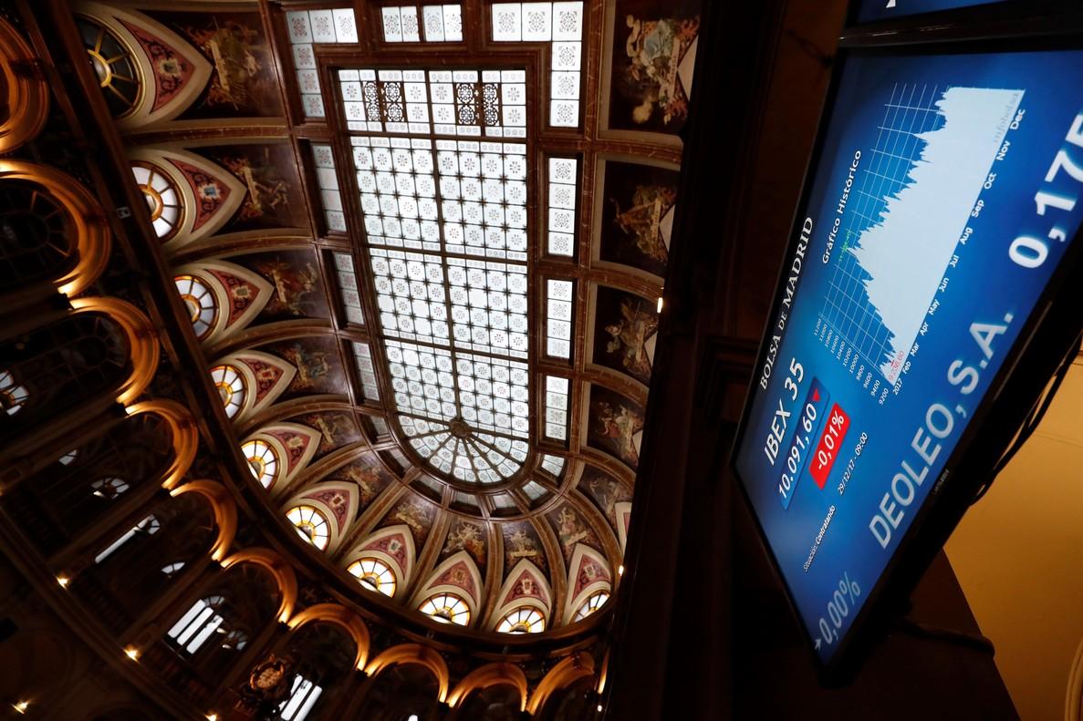 La Bolsa de Madrid, durante la última sesión del 2017.