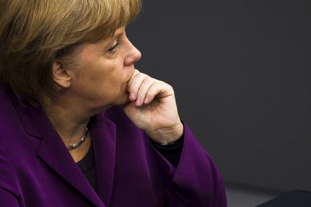 La cancellera alemanya, Angela Merkel, al Bundestag, a Berlín.