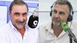Carlos Herrera y Carlos Alsina en los micrófonos de COPE y Onda Cero.