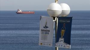 Cartel de los Juegos Mediterráneos de Tarragona.
