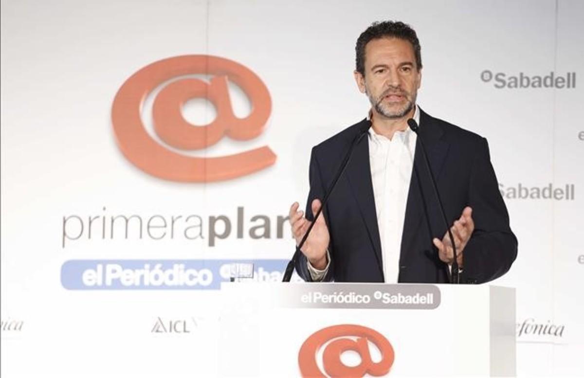 Andrés Conde durante su intervención en el coloquio Primera Plana.