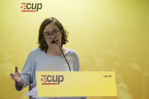 La diputada de la CUP, Eulàlia Reguant, el pasado día 12.
