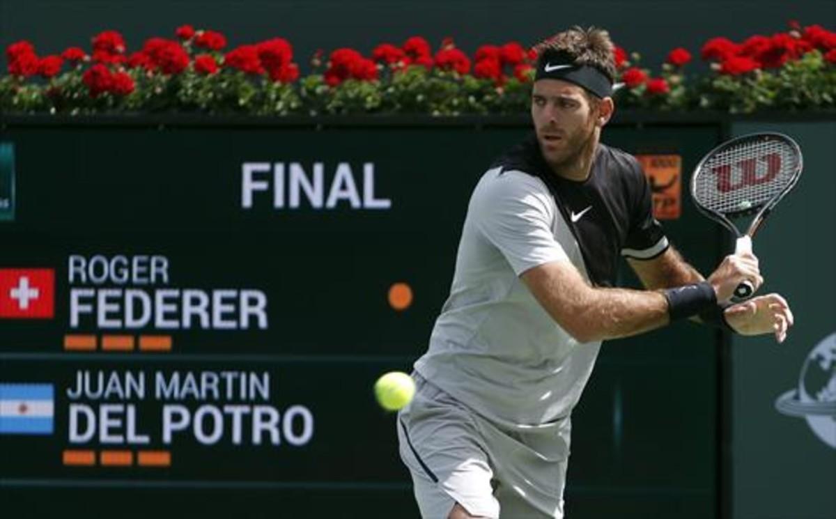 Del Potro gana en Indian Wells al suizo Federer.