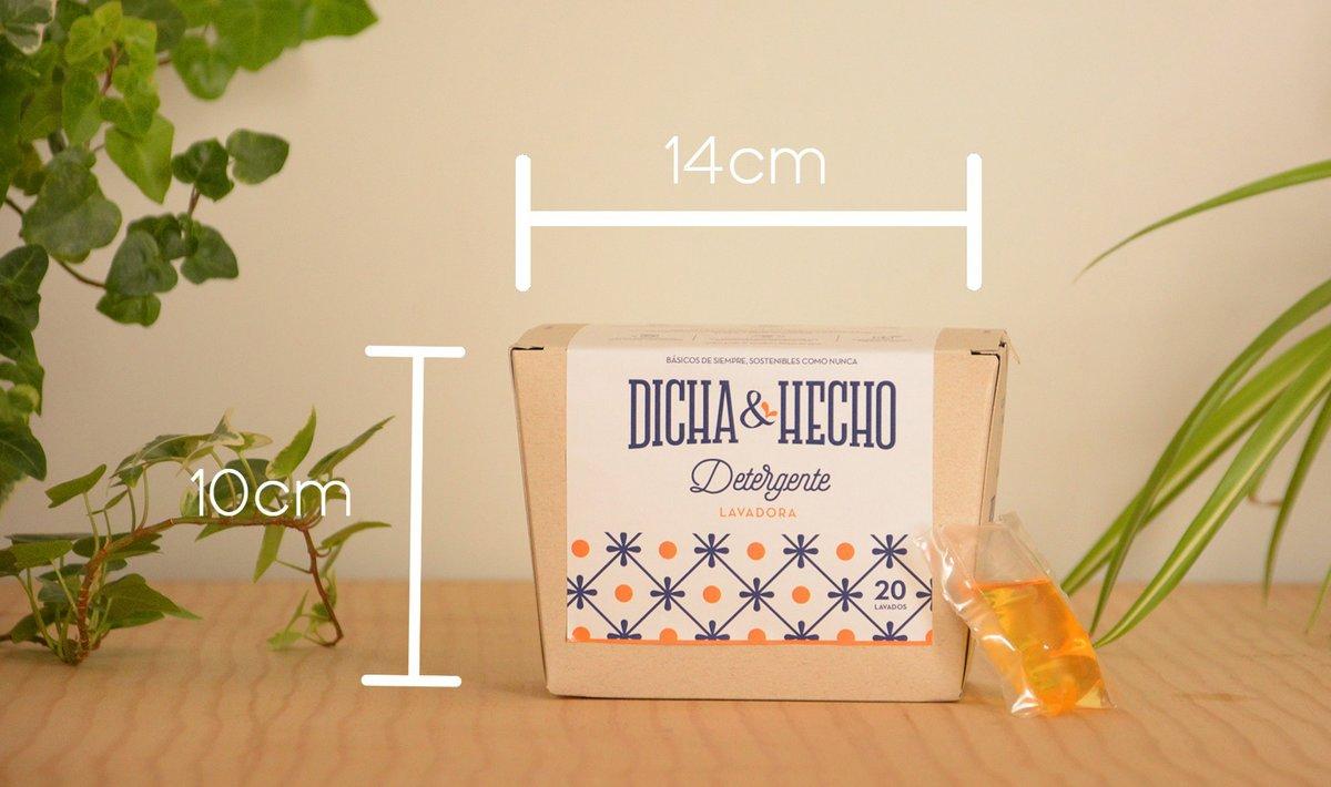 Dicha y Hecho ha diseñado y patentado un sistema de packaging para envasar productos líquidos en cajas de cartón, con monodosis solubles en agua.