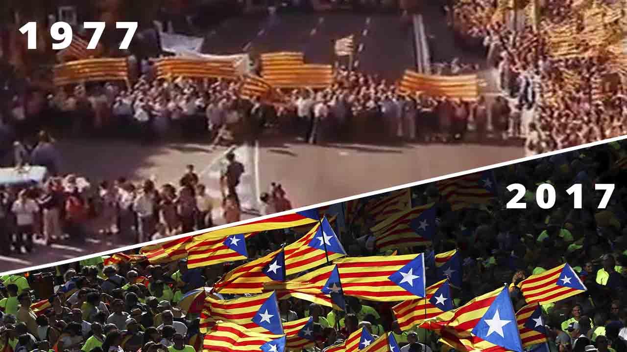 Diada y manifestaciones: ¿cuándo empezó todo?