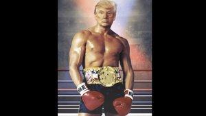 Trump descol·loca Twitter amb un fotomuntatge de Rocky
