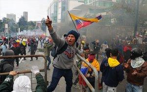 Protestas sociales en Ecuador.