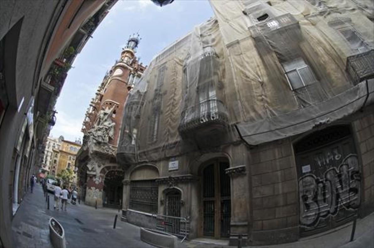 Edificio frente al Palau de la Música que Millet y Montull querían convertir en hotel.