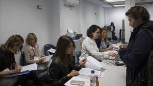 Elecciones en la Cambra de Comerç de Barcelona el pasado 8 de mayo.