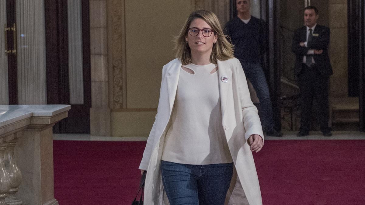 Elsa Artadien el Parlament.