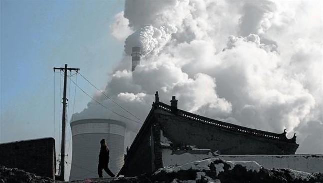Emisiones de efecto invernadero.Una central térmica de carbón en la ciudad china de Datong.