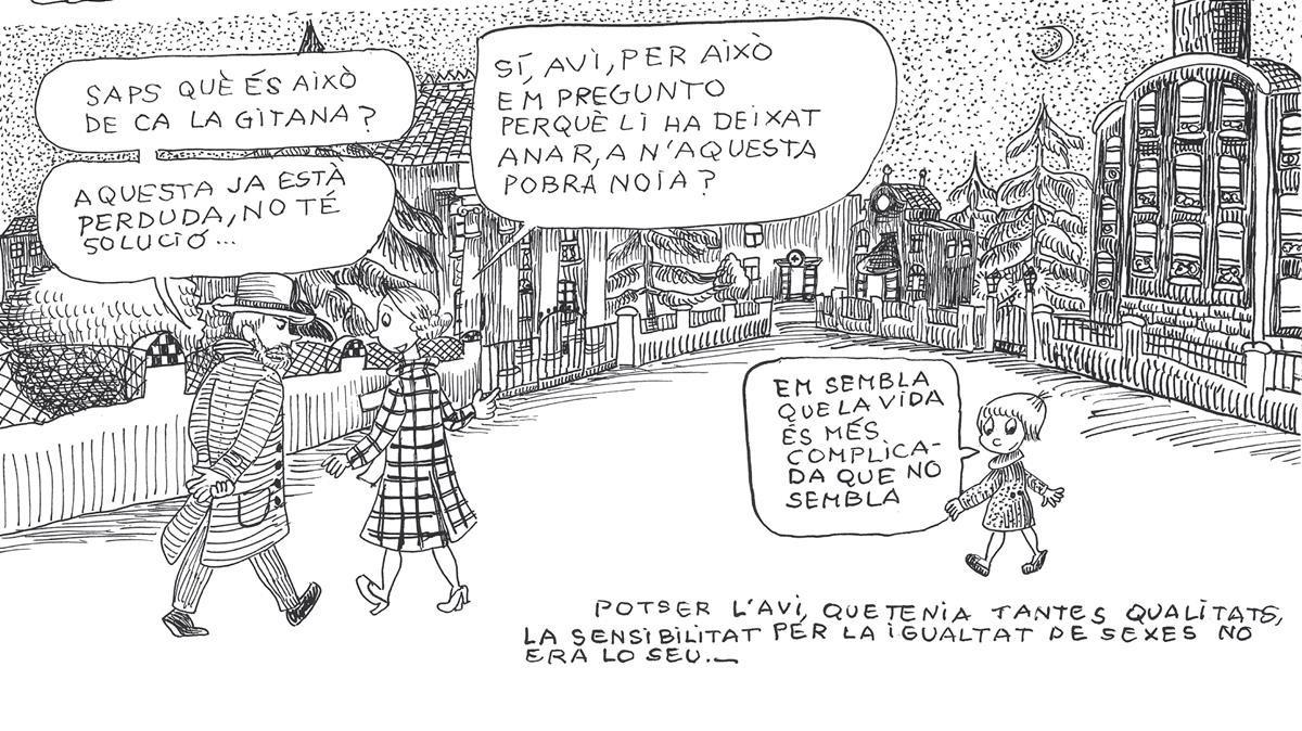Escena del libro de Pilarín Bayés 'La meva vida'.